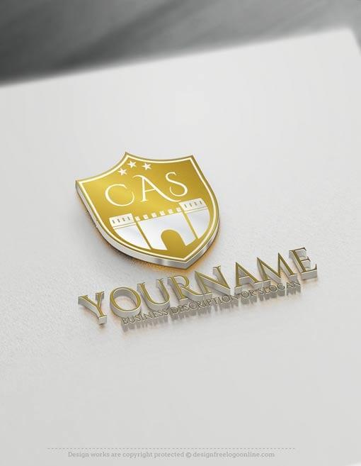 Letter Logo Creator - Free Castle Shield Logo Maker
