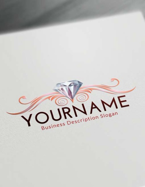 Online Decorative Diamond Logo Creator - Free Logo Maker
