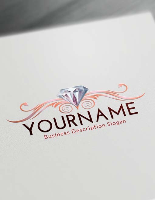 Online Decorative Diamond Logo Creator - Free Logo Maker