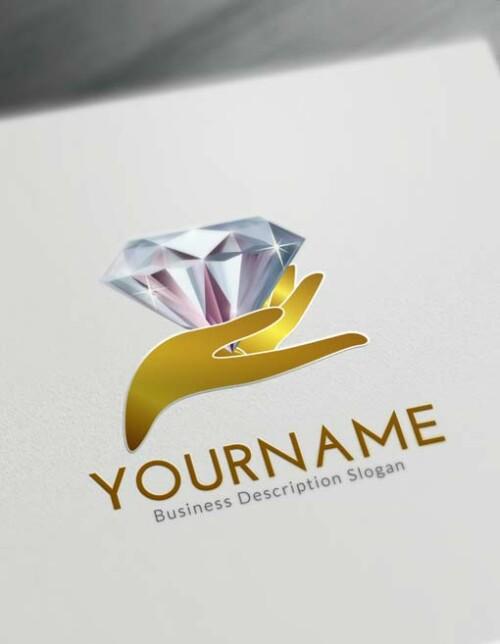 Online Hands Diamond Logo Creator - Free Logo Maker