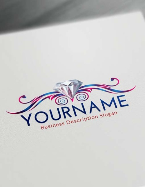 blue Diamond Logo Creator - Free Logo Maker