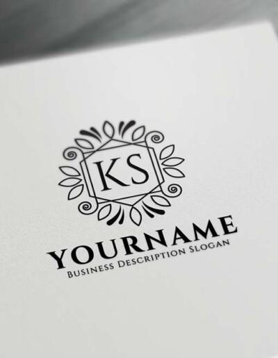 Free Vintage Floral Logo Creator - Letter Logo Decor Maker