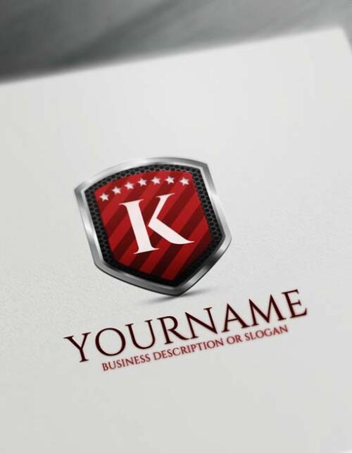Powerful Letter Logo Creator - Free 3D Shield Logo Maker