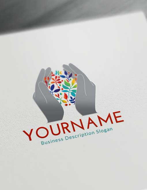 Free Logo Maker Online - Human Hands Logo Creator
