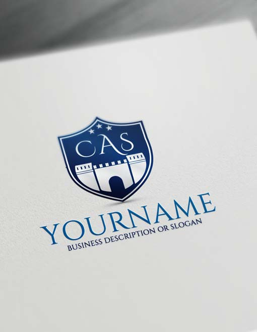 Blue Castle logo design maker