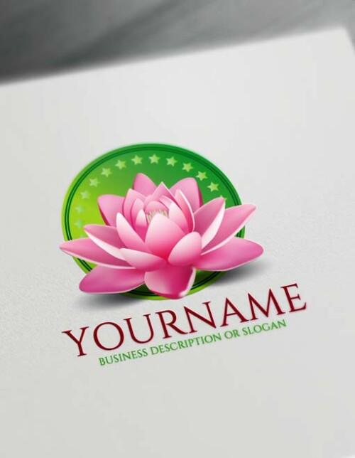 Free Thai spa 3D Lotus Logo Design Maker
