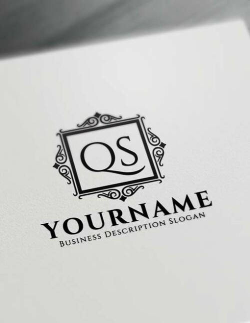 Free Vintage Frame Logo Creator - Letter Logo Decor Maker