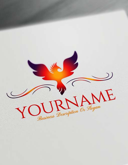 Create a Logo Online Free Greek Phoenix Logo Maker