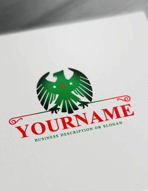 Free Strong Arab Eagle Logo Creator Online Eagle Logo Template