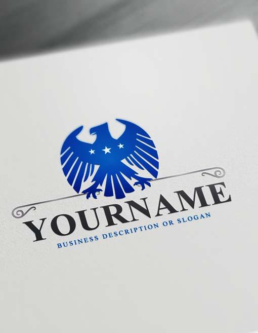 Free Strong Eagle Logo Creator Online Eagle Logo Template