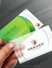 Free Business Card Maker app - 3D Wave Business card Template