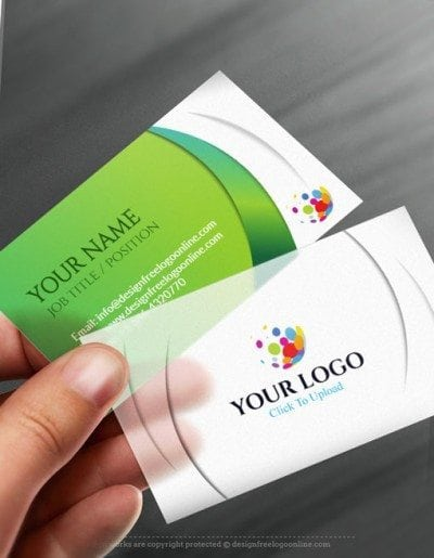 Free Business Card Maker app - 3D Wave Business card Template