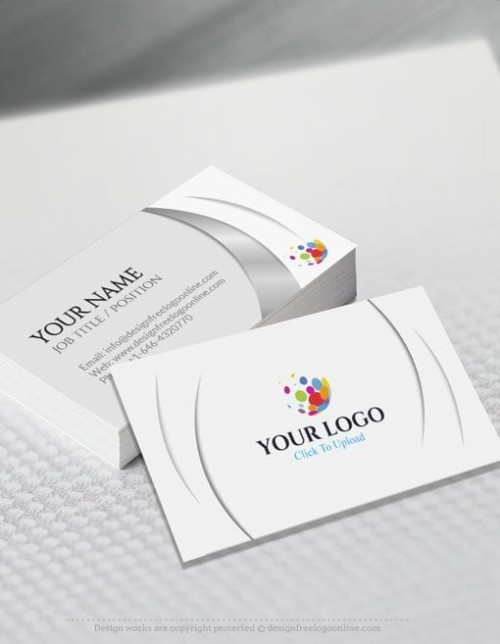 Online business card maker app 3d silver business card template free business card maker app 3d wave business card template wajeb