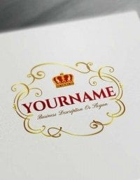 Free Crown Logo Creator Royal Frame Logo Maker