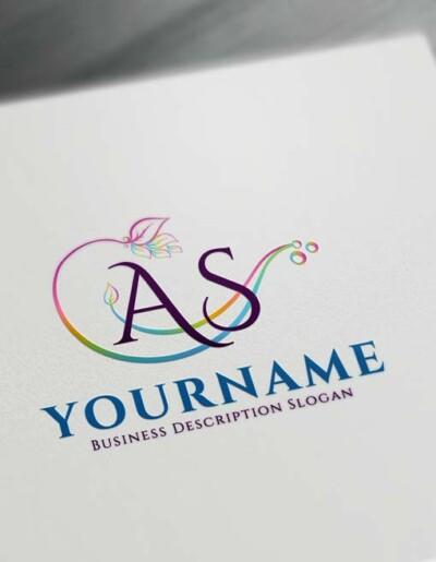 Free Logo Creator - Online Floral alphabet Logo Maker