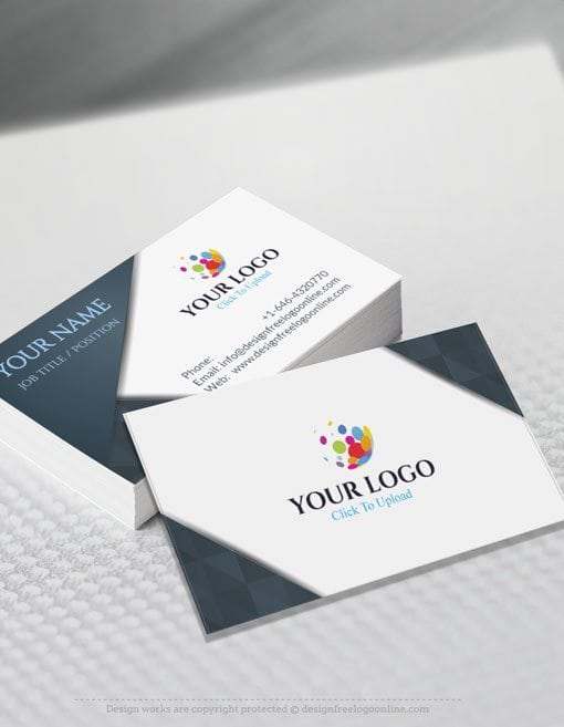 Online Business Card Maker App D Silver Business Card Template - Business card template app