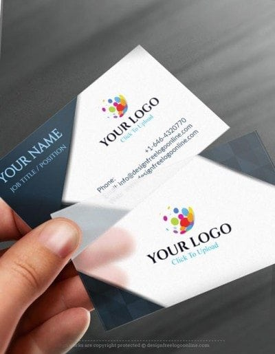 Online Business Card Maker app - Elegant BW Business card Template