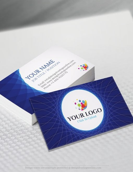 Create your own business cards with the free business card maker online free business card maker app abstract blue business card reheart Image collections