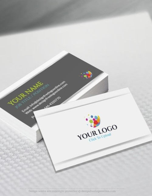 Free Business Card Maker D Red Business Card Template - Business cards online template