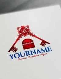 Online real estate Free Logo Creator House Key Logo Maker