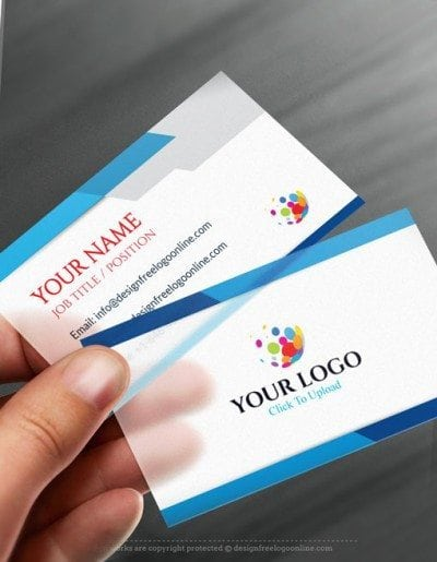 blue Business Card Maker app