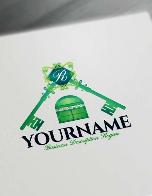 green real estate Free Logo Creator House Key Logo Maker