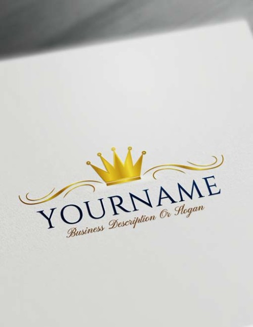 Free Logo Creator - gold Royal Simple Crown Logo Maker