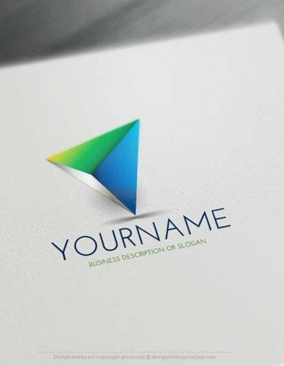 3D Triangular Logo Design
