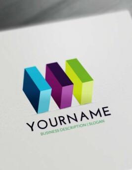 Free 3D Logo Maker - 3D Cubes Logo Creator Online