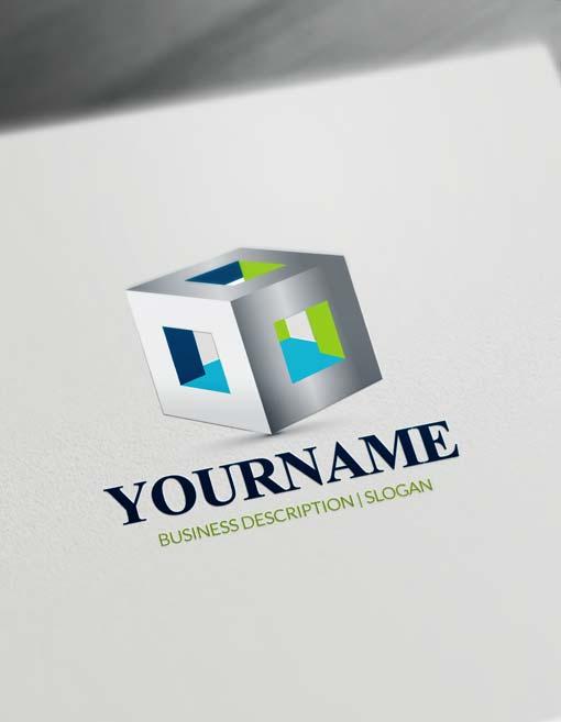 Free 3d logo maker modern 3d cube logo creator online Online 3d design maker