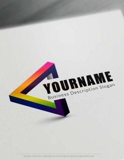 3D triangle Logo Creator