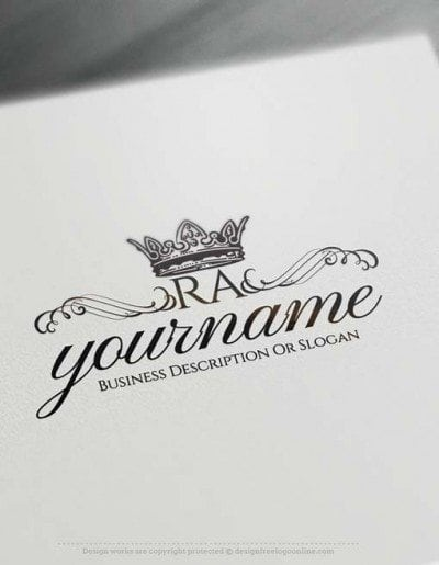 Create Vintage Crown logo design with the Free Logo Maker