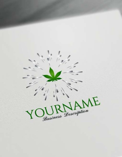 Design Free Logo Cannabis Marijuana Logo Maker