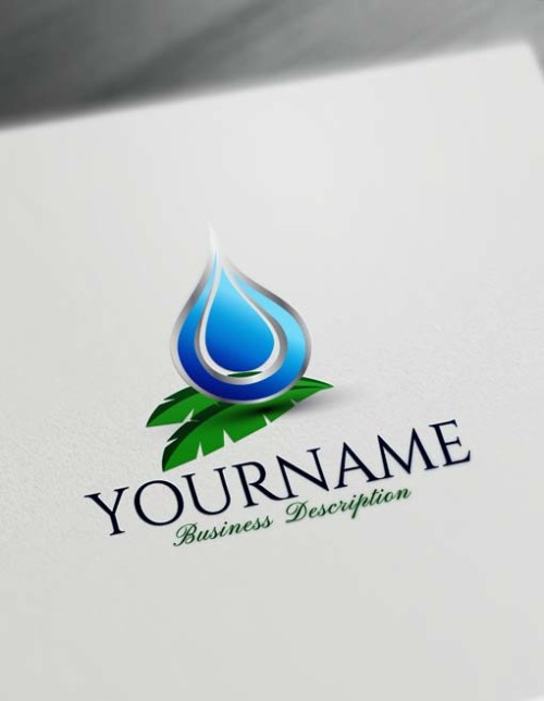Free healthy water drop Logo Maker