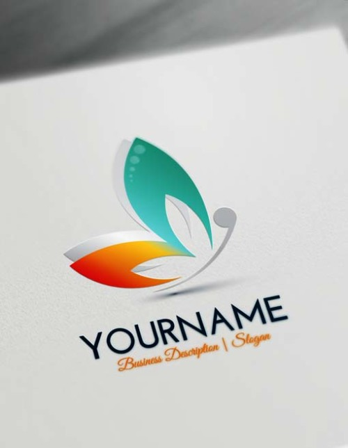 Free Butterfly Logo Maker - Make Yourself Abstract Butterfly logo design