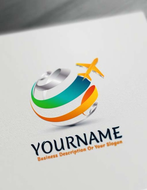 Free Travel Logo Generator - Online Plane Flying Logo
