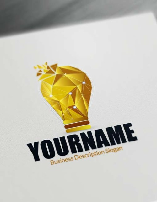 Create Your Own Light gold Ball Idea Logo with Free Logo Maker