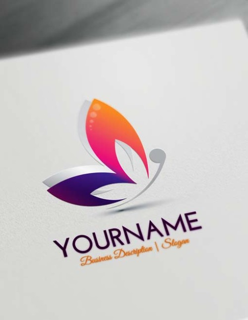 Free Purple Butterfly Logo Maker - Make Yourself Abstract Butterfly logo design