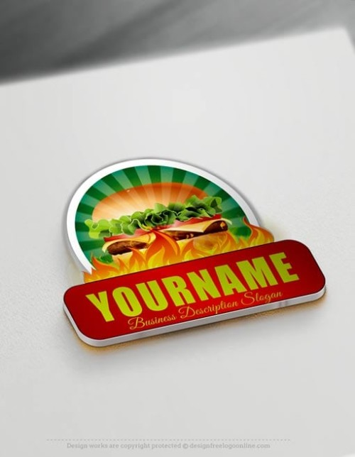 Make Fast Food Burger Logo Online - Free Logo Creator