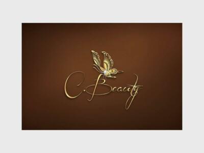 Custom Logo Design gold butterfly