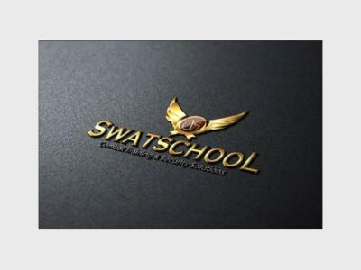 Custom Logo Design gold wings