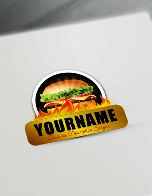 Make Fast Food Burger Logo Online - Free Logo Creator