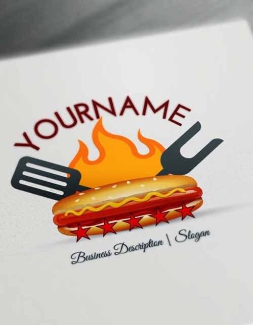 Design Fast Food Retro Hotdog Logo - Free Logo Maker