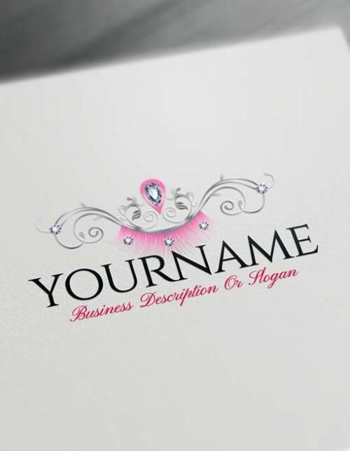 sexy eyelash Logo Free makeup Logo maker
