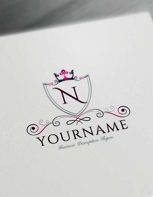 Online Luxurious Royal Logo Design Free Logo Maker crown logo