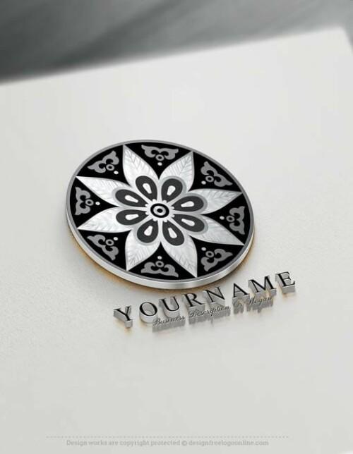 Tattoo Flower Mandala Logo Design Free Mandala Pattern Logo Maker