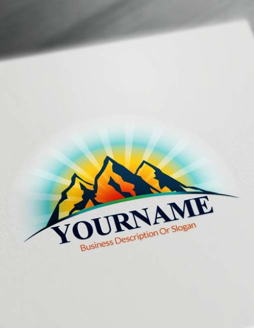 Create online mountains Logo design - Free Logo Maker