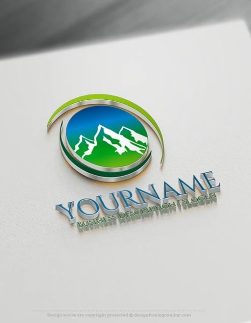 Make Online mountains Logo design - Free Logo Designer