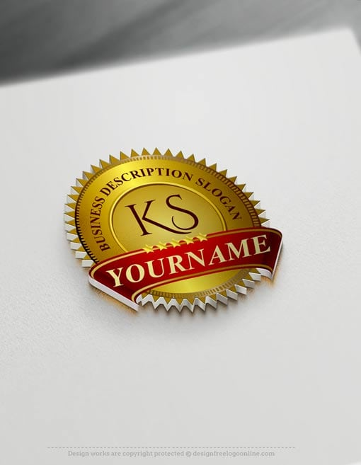 Luxurious Badge Logo Design Free Vintage Stamp Logo Maker