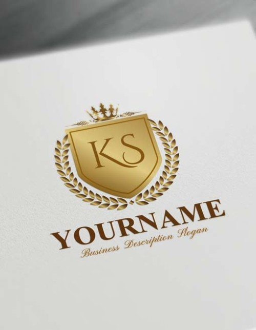 Royal Gold Luxurious Heraldic Logo Design Free Vintage Heraldry Logo Maker